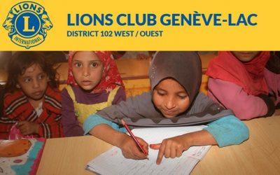 Soutien exceptionnel du Lions Club de Genève