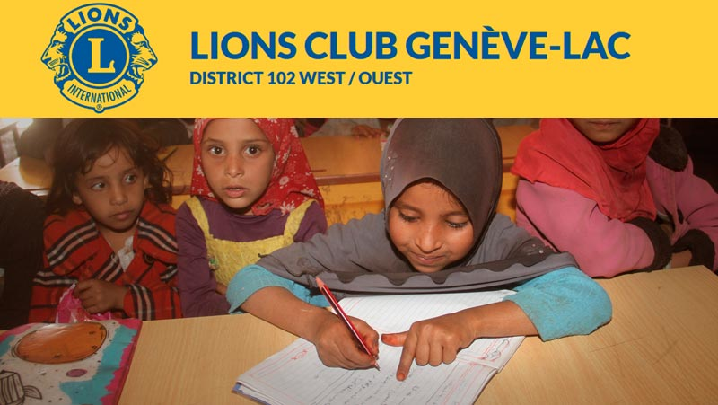 The exceptional support of the Geneva Lions Club